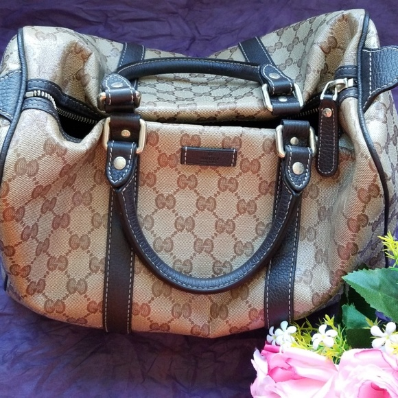 ccfe09d8ad7c Gucci Bags | Joy Boston Bag Gg Coated Canvas Medium | Poshmark